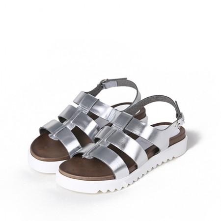 缇缇柏嘉 / bagatt休闲露趾平跟凉鞋11CG47002570913·银色