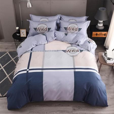 莱薇全棉活性四件套1.5m床 (3色可选)·蓝调1.5