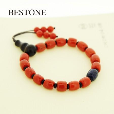 【孤品】BESTONE沙丁红珊瑚编织款手链52