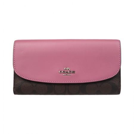 COACH 女士长款钱包·深棕紫色