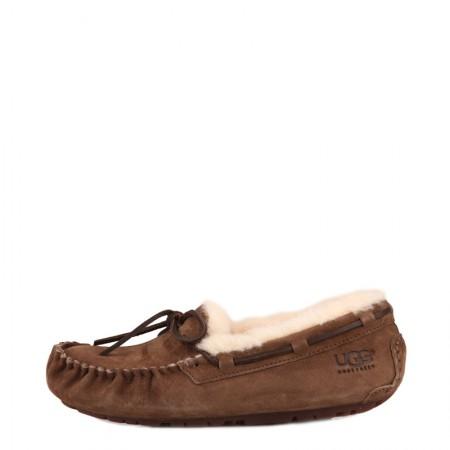 UGG 女士软毛豆豆鞋蝴蝶结款·棕色