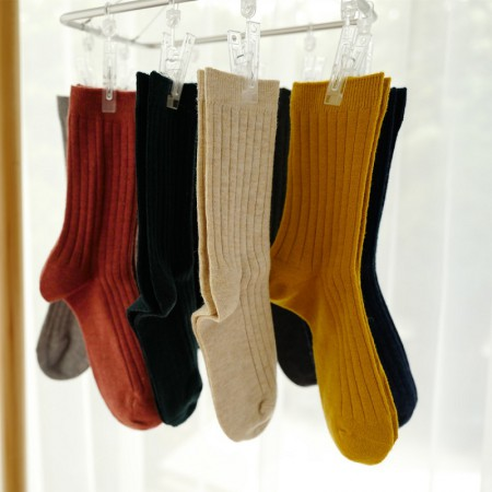 HENNY RUE 日系基础超柔手感羊毛基础长袜 9双组·9色 混色