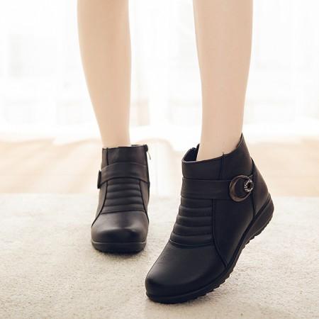 牛皮舒适百搭加棉冬季女鞋