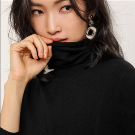 秋冬时尚镂空超柔打底衫·黑色简约  黑色简约