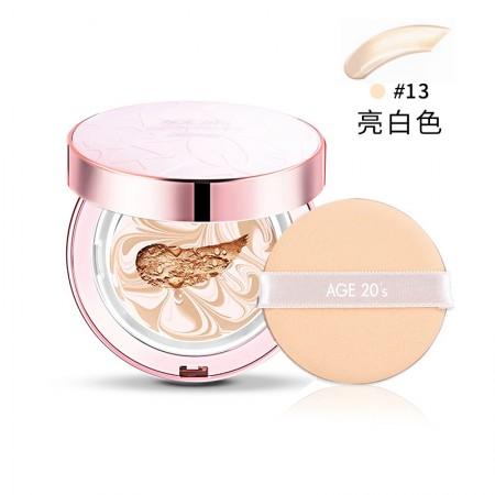 香港直邮 爱敬 AGE20s水光BB气垫经典款正装带替换装 多色可选·粉盒13#亮白色