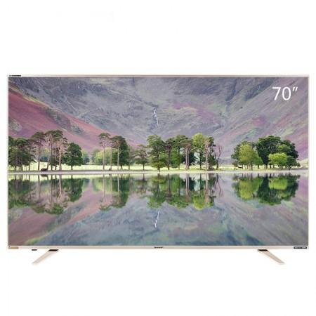 夏普70寸液晶4K超高清平板电视70Z4AA·黑  黑