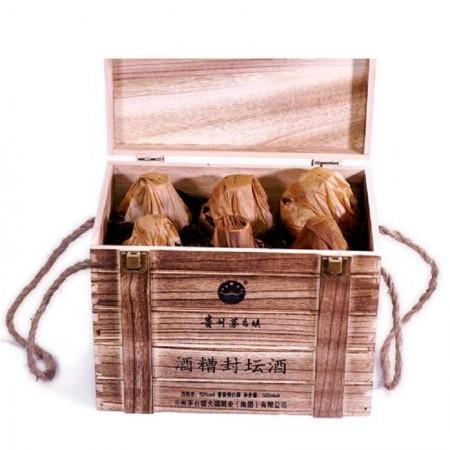 贵州茅台镇 百年大福酒糟封坛酒 酱香型白酒53度原浆发窖500ml*12