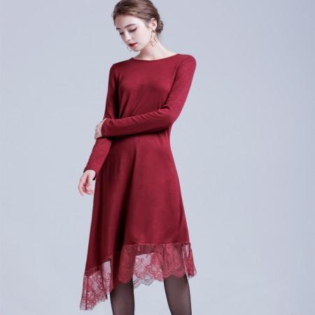 富贵鸟水岸珠光毛衫连衣裙两件组