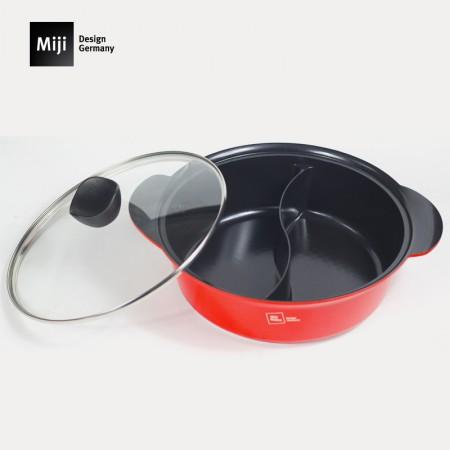 米技电陶炉鸳鸯锅电陶炉明火使用30CM鸳鸯火锅涮羊肉锅具