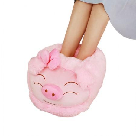 漫漫猪 创意冬季暖脚宝 可爱毛绒卡通动物·小猪